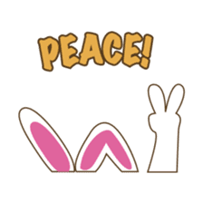 PuPu, the cheerful and sweet bunny sticker #399199