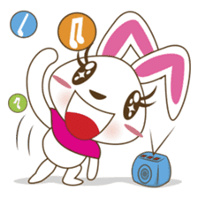 PuPu, the cheerful and sweet bunny sticker #399205