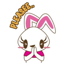 PuPu, the cheerful and sweet bunny sticker #399208