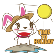 PuPu, the cheerful and sweet bunny sticker #399220