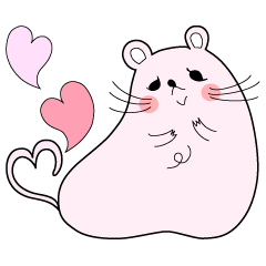 Sticker of cute mouse(Vol.1)