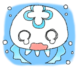 Pretty jellyfish sticker #399641