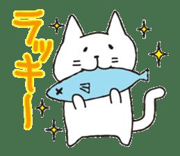 carefree cat sticker #400157