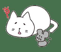 carefree cat sticker #400168