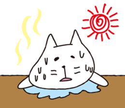 carefree cat sticker #400181