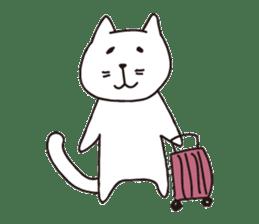 carefree cat sticker #400183