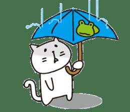 carefree cat sticker #400184