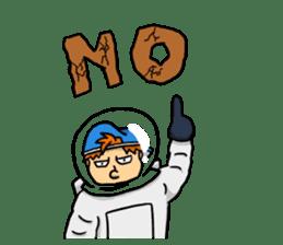 Space travel astronaut P sticker #400589
