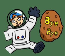 Space travel astronaut P sticker #400600