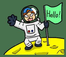 Space travel astronaut P sticker #400611