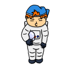 Space travel astronaut P sticker #400621