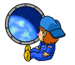 Space travel astronaut P sticker #400624