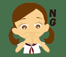 Schoolgirl everyday school life sticker #401265