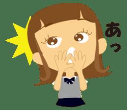 Schoolgirl everyday school life sticker #401266