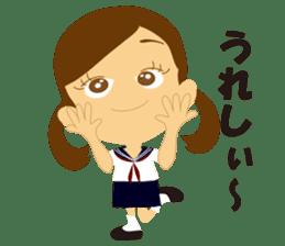 Schoolgirl everyday school life sticker #401267