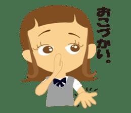 Schoolgirl everyday school life sticker #401269
