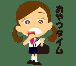 Schoolgirl everyday school life sticker #401274
