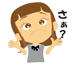 Schoolgirl everyday school life sticker #401276