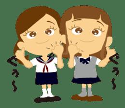 Schoolgirl everyday school life sticker #401277
