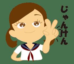 Schoolgirl everyday school life sticker #401278