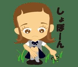 Schoolgirl everyday school life sticker #401280