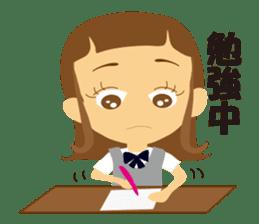 Schoolgirl everyday school life sticker #401281