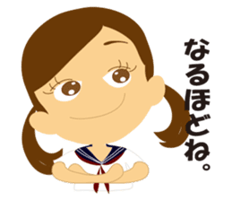 Schoolgirl everyday school life sticker #401283