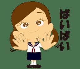Schoolgirl everyday school life sticker #401284