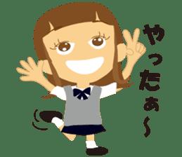 Schoolgirl everyday school life sticker #401286
