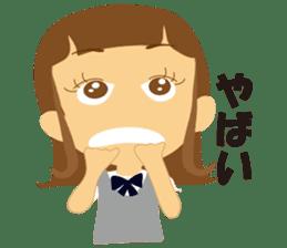 Schoolgirl everyday school life sticker #401287