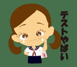 Schoolgirl everyday school life sticker #401288