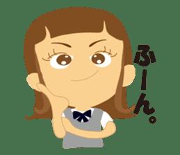 Schoolgirl everyday school life sticker #401289