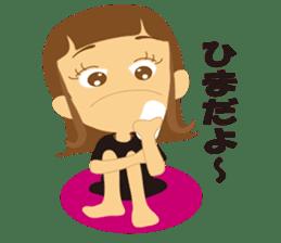 Schoolgirl everyday school life sticker #401290