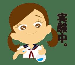 Schoolgirl everyday school life sticker #401291