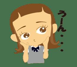 Schoolgirl everyday school life sticker #401295
