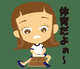 Schoolgirl everyday school life sticker #401299