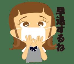 Schoolgirl everyday school life sticker #401300