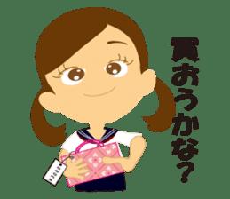 Schoolgirl everyday school life sticker #401303