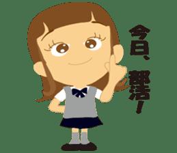 Schoolgirl everyday school life sticker #401304