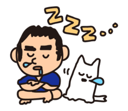 Japanese Kyushu Boy and His Dog sticker #401556