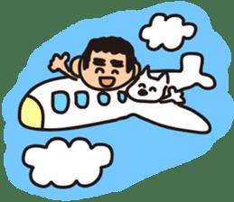 Japanese Kyushu Boy and His Dog sticker #401579