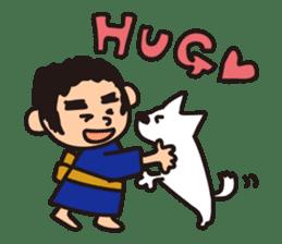 Japanese Kyushu Boy and His Dog sticker #401582