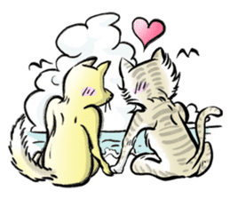 anthropomorphic rabbits and frogs sticker #402220