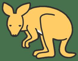 Kangaroo is watching sticker #402425