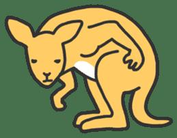 Kangaroo is watching sticker #402426
