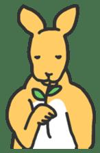 Kangaroo is watching sticker #402432