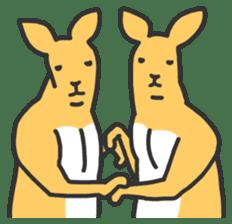 Kangaroo is watching sticker #402447