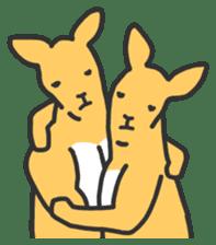Kangaroo is watching sticker #402453