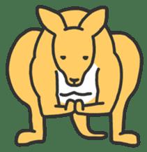 Kangaroo is watching sticker #402454