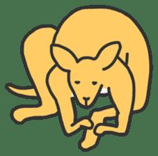 Kangaroo is watching sticker #402458